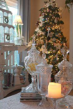 {Coastal Christmas} Apothecary Jars   Sally Lee's Beach House DecoratingSally Lee's Beach House Decorating
