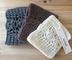 Lace Crochet Boot Cuffs   Knit Boot Topper  Leg by VANAGScreative, $20.00
