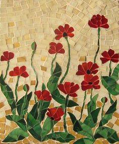 Panneau FRAGILE BEAUTY coquelicots à la main art par andreamosaic