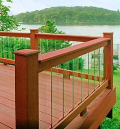 Glass deck railing ideas | Timber Decking Company - Deck Rails