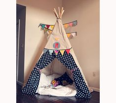 Future play room idea! Who doesn't want to snuggle up in a tent like this?