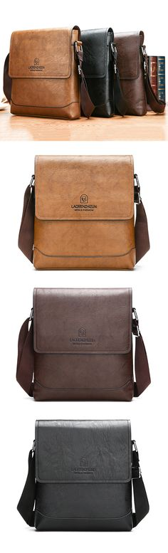 Leather Business&Casual Crossbody Bag #style #fashion #men