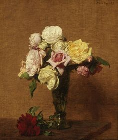 Still Life with Roses in a Fluted Vase, 1889   Philadelphia Museum of Art