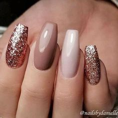 A manicure is a cosmetic elegance therapy for the finger nails and hands. A manicure could deal with just the hands, just the nails, or Stylish Nails, Trendy Nails, Elegant Nails, Pink Nails, My Nails, Matte Nails, Stiletto Nails, Nude Nails With Glitter, Coffin Nails Glitter