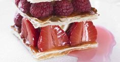 Master the art of French patisserie with the classic mille feuille. Delicate layers of puff pastry, fresh summer berries and sweet calvados cream make this tea time treat a showstopping recipe to serve to your friends and family.