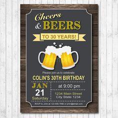 Cheers and Beers Birthday Invitation Beer by funkymushrooms