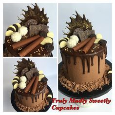 Triple Choc #drippy #cake #nosuchthingastoomuchchocolate #instacake #chocolateoverloadcake #birthdaycake