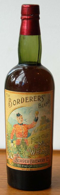 Borderers Blend Fine Old Malt Whisky Edwardian era, believed pre-World War I. Rare and very collectible.