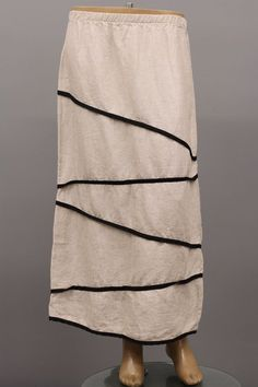198c38e9fa8 BODIL COLLECTION DESIGNS LAGENLOOK ARTSY LINEN STRAIGHT SKIRT NATURAL  MEDIUM NEW  Bodil  StraightPencil
