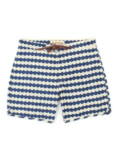 Wave Pattern Boardshorts