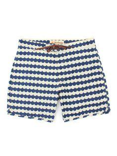Wave Pattern Boardshorts