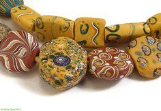Tabular Venetian Trade Beads Rare Mixed