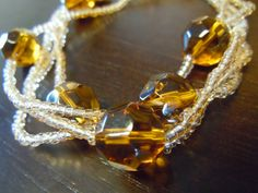 Amber Rose Wrap Necklace by WhisperingSweetly on Etsy, $16.00