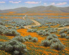 """Poppies and Sage"" - Charles Muench - oil on linen"