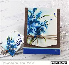Penny Ward designs with Penny Black's newest collection-- click through for complete supplies and instructions