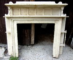 ~ UNIQUE ANTIQUE OAK FIREPLACE MANTEL 60 x 55.5 ~ ARCHITECTURAL SALVAGE ~ | eBay