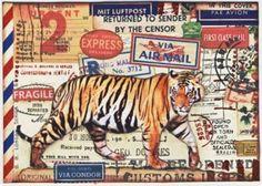 Colorful Adventures: More Mail Art Calligraphy Envelope, Envelope Art, Diy Postcard, Decorated Envelopes, Going Postal, Atc Cards, Button Art, Wedding Art, Old Postcards