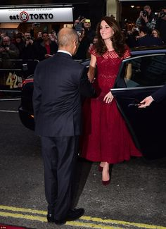The royal was given a warm welcome as hundreds of well-wishers lined the street on London'...