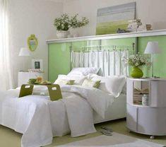 green bed headboard