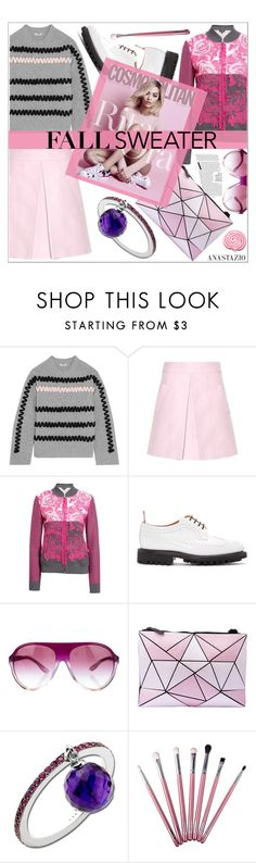 """Anastazio-Cozy Fall Sweaters"" by anastazio-kotsopoulos ❤ liked on Polyvore featuring Kenzo, Marni, St. John, Thom Browne, STELLA McCARTNEY and Anastazio"