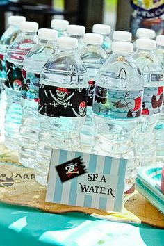 "pirate party "" sea water"" @Lee Semel Semel Keller Cuculich right up your alley!"