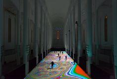 miguel chevalier spreads magic carpets 2014 over sacre coeur in morocco