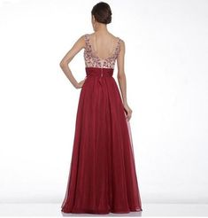 Womens Evening Formal Cocktail Party Bridesmaid Backless A-line Red Long Dress Robe Kente, Kente Dress, Evening Dresses Online, Evening Dresses For Weddings, Prom Dresses 2015, Nice Dresses, Party Dresses, Chiffon Gown, Gowns