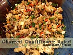 Remember my addiction to funky salads? Well, sign me up for a BIG BOWL of Charred Cauliflower Salad! We've learned that roasting… Cauliflower Salad, Big Bowl, Roasted Vegetables, Kitchen Recipes, Fried Rice, Potato Salad, Salads, Keto, Chicken