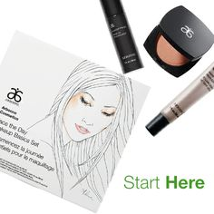 Start your beauty routine with this must-have set that has everything you need to achieve a natural looking, gorgeous, glowing complexion! #arbonne #makeup #neutral