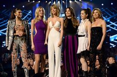 Taylor onstage with her BBMAs Squad after the airing of the #BadBloodMusicVideo