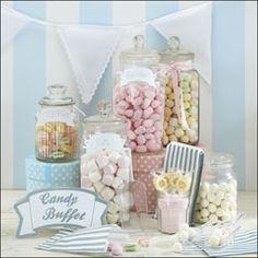 Pastels candy buffet