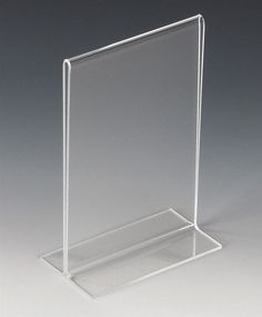Workshop Series 4 x 6 Acrylic Sign Holder, Bottom Insert, T-style - Clear