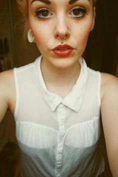 stretched ears, nice eyes and great piercings