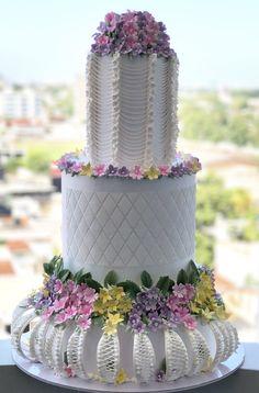 Wedding cake with string work