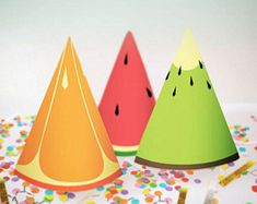 Party Kit    Tutti Frutti Party Theme    Downloadable + Printable.  Sombreros De CumpleañosFruta ... 4a68b598162