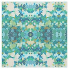 'Springfield' Green Blue Cream Decor Fabric Juul