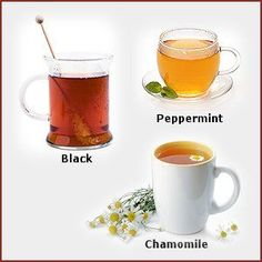 Migraines, Migraine - different teas can offer different types of Migraine relief.