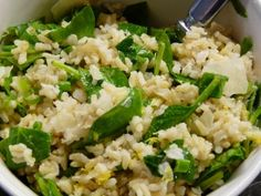 Flower Patch Farmgirl: Brown Rice with spinach and lemon
