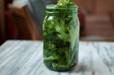 Pickled broccoli: close to mom's marinade.  Replaced mustard seed with dill and added 1T sugar.  Hoping they turn out tasty!