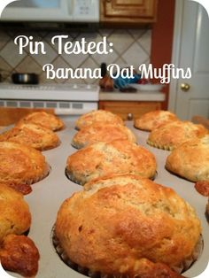 what to do w/ all of those ripe bananas! easy recipe for banana oat muffins - great for breakfast!