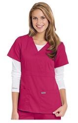 Grey's Anatomy 3 Pocket Mock Wrap Top #4153