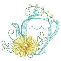 Vintage Tea Time 04(Sm) machine embroidery designs