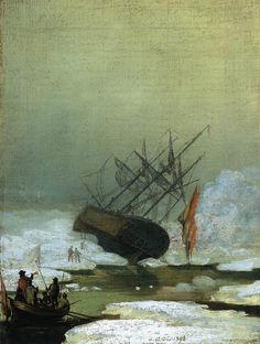 Caspar David Friedrich - Wreck in the Sea of Ice - read & see more at http://makeyourideasart.com