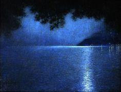 Lucien Lévy-Dhurmer (French, 1865-1953), Le lac, le soir