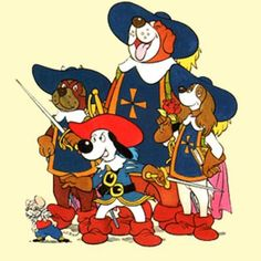 From left to right: Pip, Porthos, Dogtanian, Athos and Aramis.Dogtanian and the Three Muskehounds is a 1981 cartoon based on the novel The Three Musketeers by Alexandre Dumas. The cartoon was created by Spanish animation studio BRB Internacional … Cartoon Cartoon, Vintage Cartoon, Cartoon Characters, Famous Cartoons, Retro Cartoons, Classic Cartoons, Dog Cartoons, 80s Kids, Kids Tv