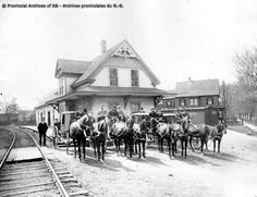 Canada Eastern Railway Station, Fredericton, May 1903 (Photo by Rocke & Davidson, Saint John). Miscellaneous Photograph Collection, Provincial Archives of New Brunswick Devon Uk, Saint John, New Brunswick, Saints, Archive, Photograph, Canada, History, Travel