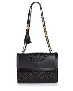 60233644b13c4 Tory Burch Fleming Convertible Leather Shoulder Bag Handbags -  Bloomingdale s