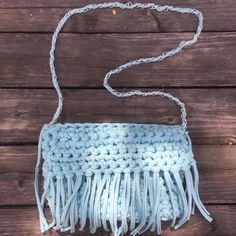 "0 Likes, 1 Comments - Cocoon always ready for winter (@cocoonalwaysreadyforwinter) on Instagram: ""Bolsas de trapillo 💙 #crochet #knitting #hechoamano #handmade #tejidoamano #flapbag #alwaysready…"""