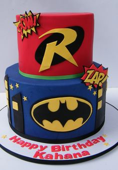 Batman & Robin Cake