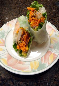Fire Breathing Shrimp Mango-Tango Rice Paper Wraps